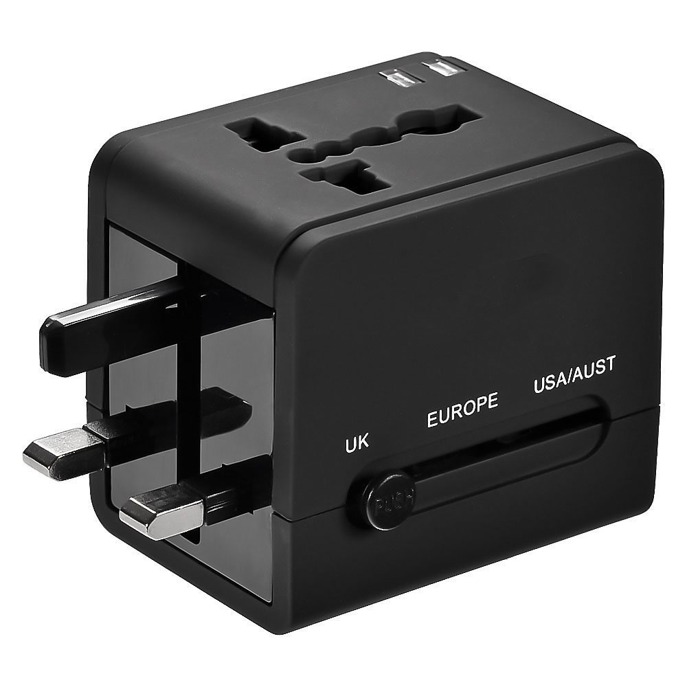 universal travel ac adapter power plug outlet with dual. Black Bedroom Furniture Sets. Home Design Ideas